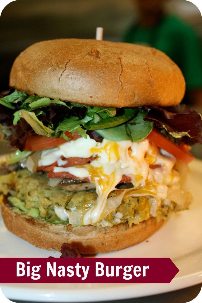 The Big Nasty Burger   Green Vegetarian Cuisine   @GreenVegetarian