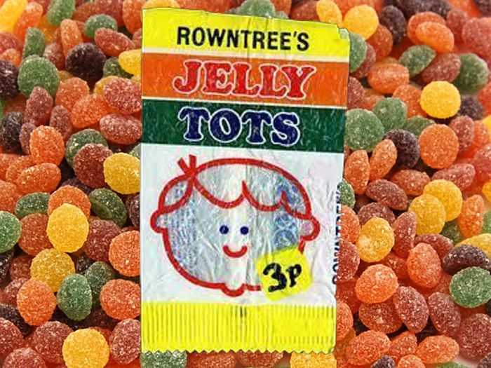 1970s childhood memories! Jelly Tots - It's hard to believe that you could buy anything for 3p!