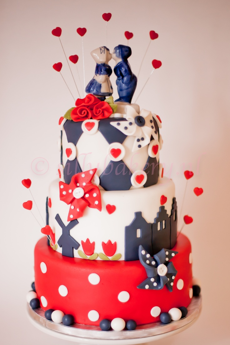 "Wedding cake ""Holland"" by Silly Bakery  www.sillybakery.nl"