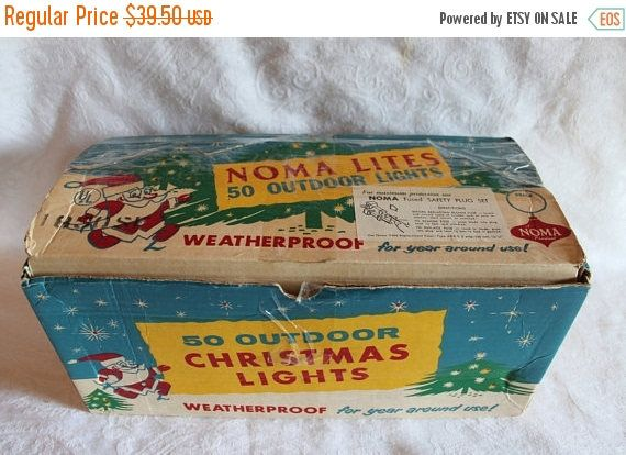 Summer Sun Sale Vintage Noma Christmas Lights  50 Outdoor C9
