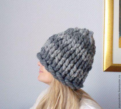 Шапки ручной работы. Ярмарка Мастеров - ручная работа. Купить Объемная шапка из толстой пряжи Мисс Мэри Бертон. Handmade.