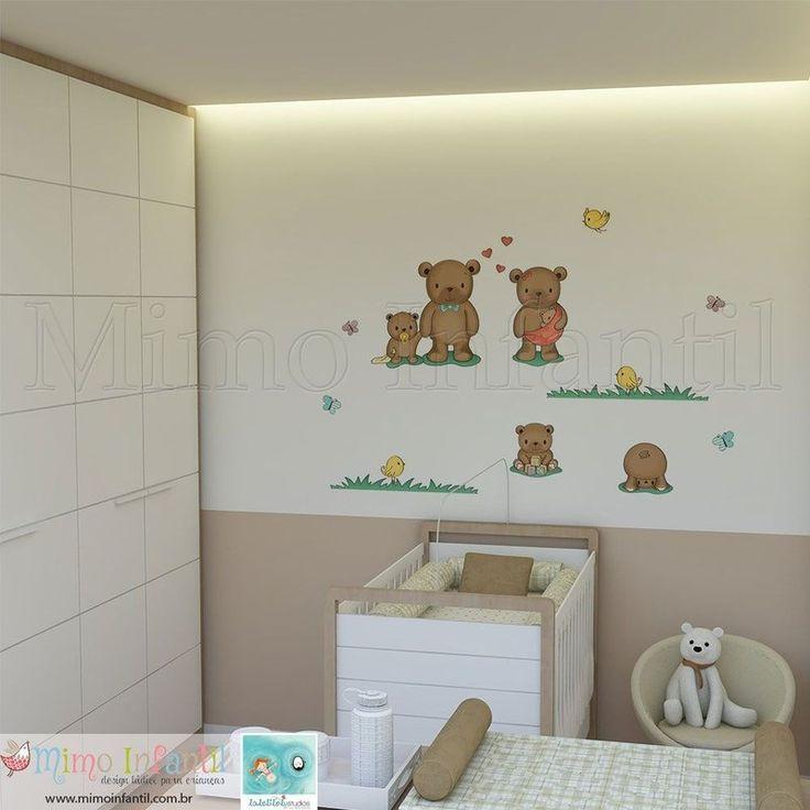 Adesivo de parede para decoração de quarto de bebê e  ~ Adesivos De Parede Para Quarto De Bebe Recife