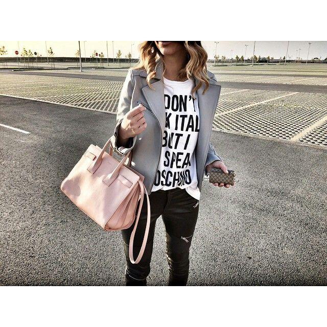 Zoranaah style *Saintlaurent bag *Moschino shirt *Sparrowbyw jacket * Zara pants