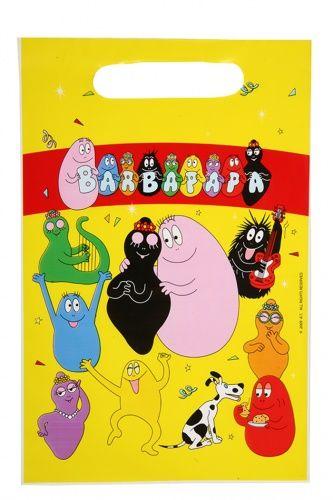 6 sacchetti per contenere caramelle Barbapapa