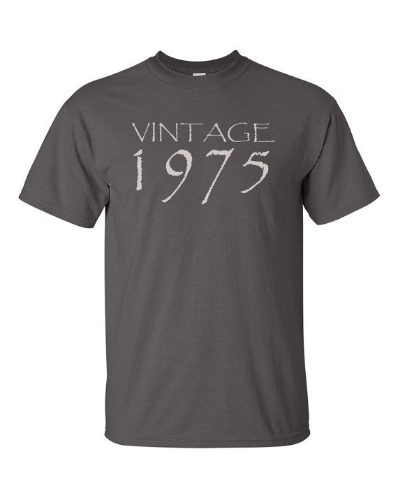40th Birthday Gift for Men or Women  Vintage 1975 by UpShirtsCreek