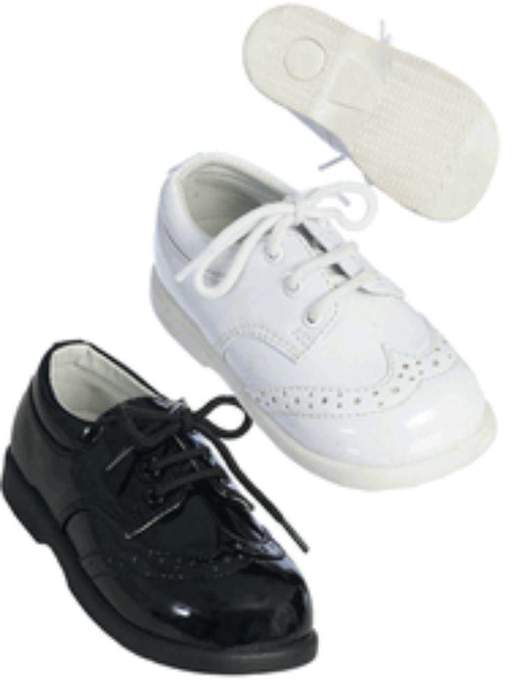 Infant, Toddler, Boy, Tuxedo Shoes Size infant 2 to Todder Boy size 10 White or Black www.dressedupkids.com