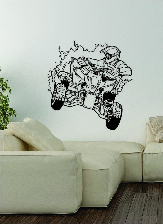 Quad Rider V2 Decal Wall Vinyl Art Decor Room Teen Sports ATV Dirtbike Moto  X Bike Part 61