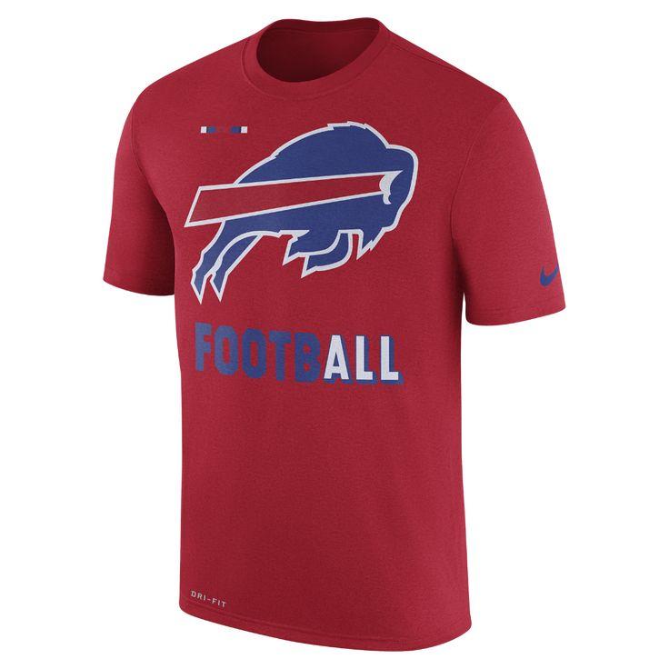 "Nike Dry Legend ""Football"" (NFL Bills) Men's T-Shirt Size Medium (Red) - Clearance Sale"