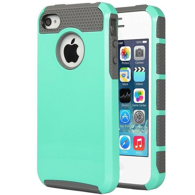 Hybrid Rubber Rugged Combo Matte Hard Silicone Phone Cover Case for iPhone 4 iPhone 4S Case Cover Screen Protector Stylus Pen