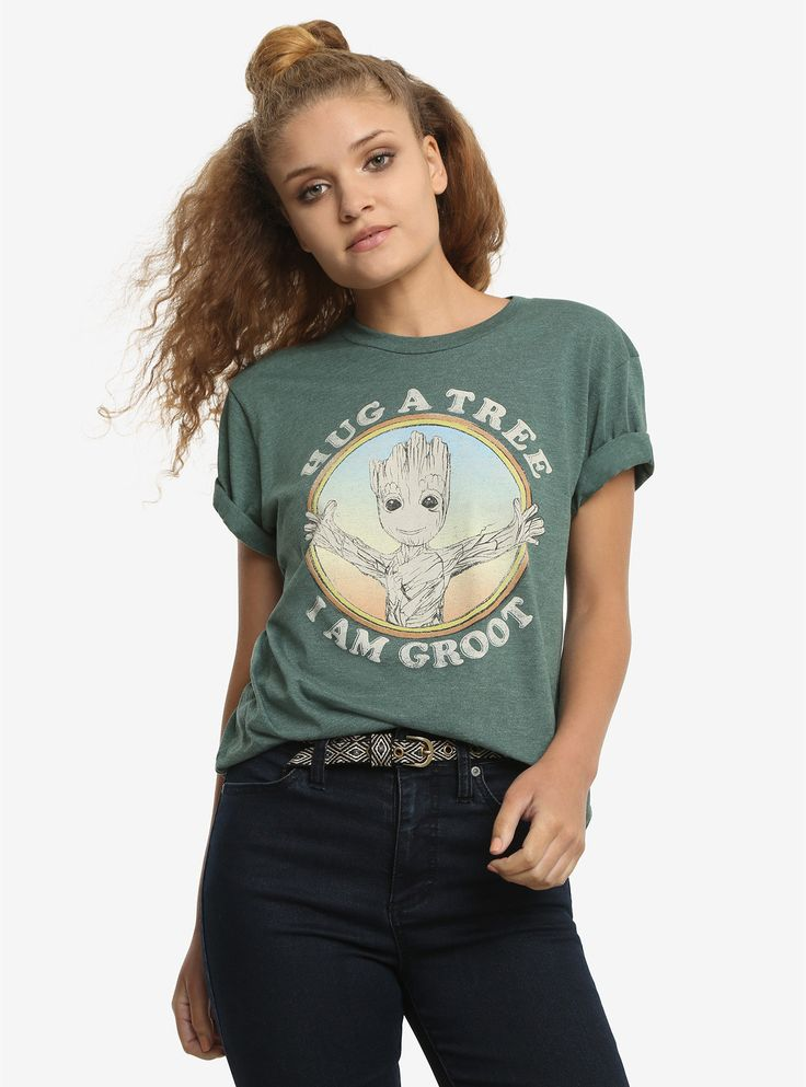 MARVEL GUARDIANS OF THE GALAXY WE ARE GROOT RPET T-SHIRT // Wear this tee and save a tree!