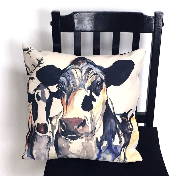 Black and White Cow Throw Pillow by Kate Green Design https://www.etsy.com/ca/listing/271788036/black-and-white-cow-pillow-or-pillowcase?ref=shop_home_active_1