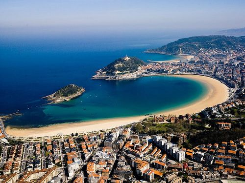 Playa de la Concha. It is said that La Concha in San Sebastian is one of the best beach cities in Europe. It is one of the most visited islands in Spain.