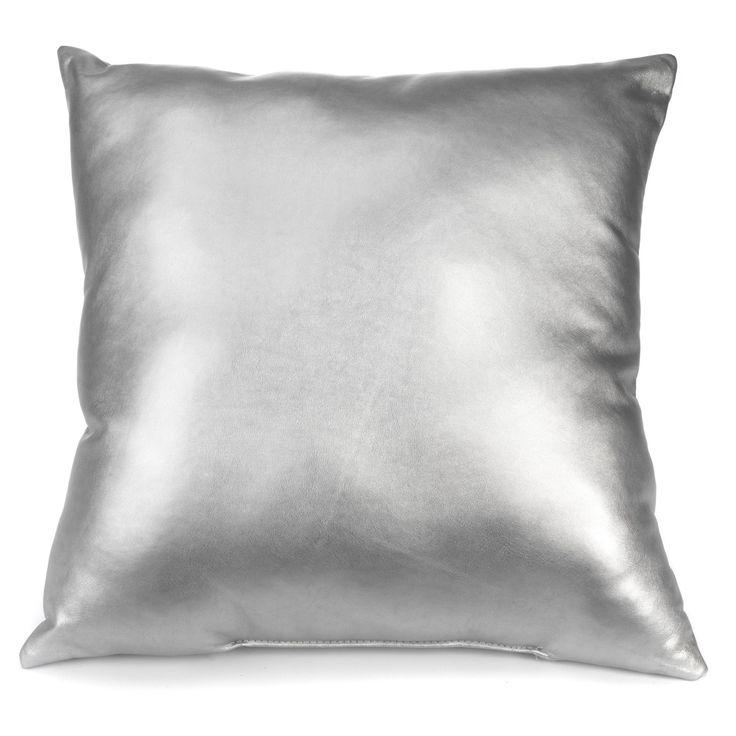 Coussin carré argent Argenté - Métal - Les coussins décoratifs - Textiles et tapis - Salon et salle à manger - Décoration d'intérieur - Alinéa