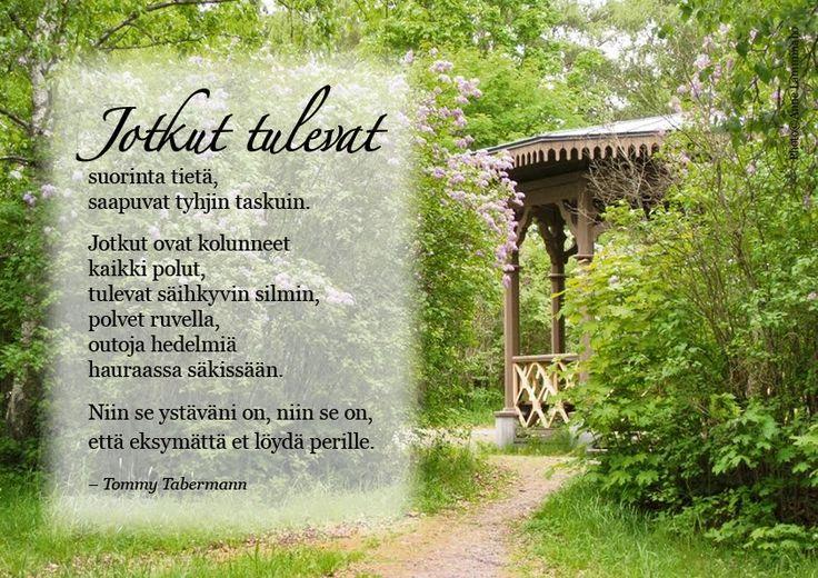 Tommy Tabermann runot elämästä