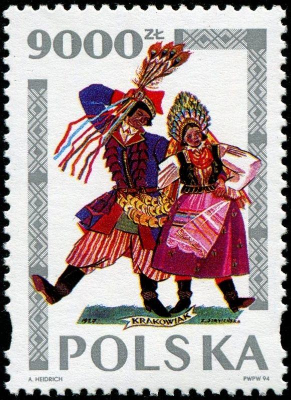 1994 Polonia-Bailes Tradicionales-Danza de Cracovia