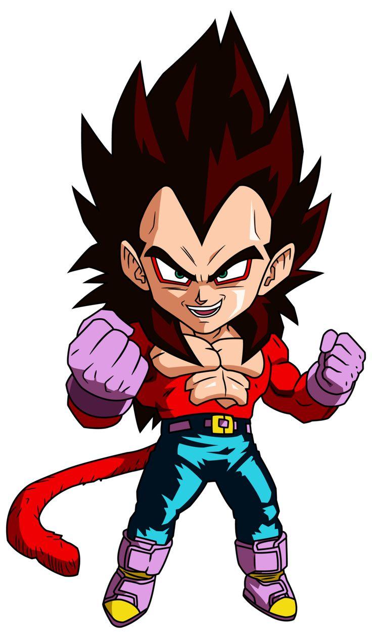 Vegeta SSJ4 - Personajes Chibi de Dragon Ball