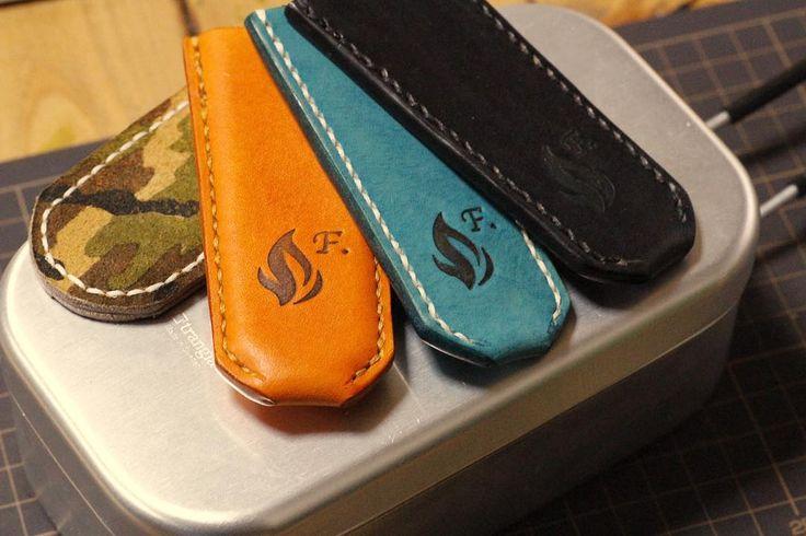 Trangia Messtin handlecover . 人それぞれ好きな色が違いますね仲良くしてもらってる方々は不思議と被ってないのです (オレンジは非売)出店していないカラーもご相談下さい . #ハンドルカバー #メスティン #レザークラフト #カモフラ #trangia #messtin #leathercraft #handlecover  あげませんよ