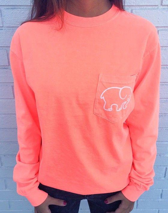 Pink Ivory Ella Berry Paisley Elephant Pocket Print Long Sleeve Cute Casual Sweatshirt