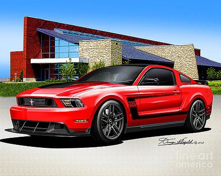 2012 Mustang Boss 302 Race Red by Danny Whitfield