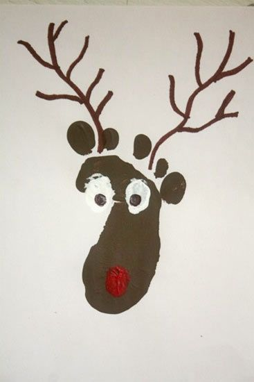 """Printed on paper and laminated and hole punch to add to Emerson memory book! And also we printed it in a 2""""x6""""x6"""" piece of lumber! First I painted the wood white let it dry and then printed the brown reindeer on the wood and used it a a Christmas display!"""