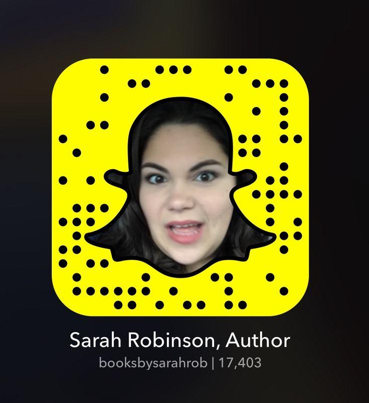 Follow Me On Snapchat at @booksbysarahrob