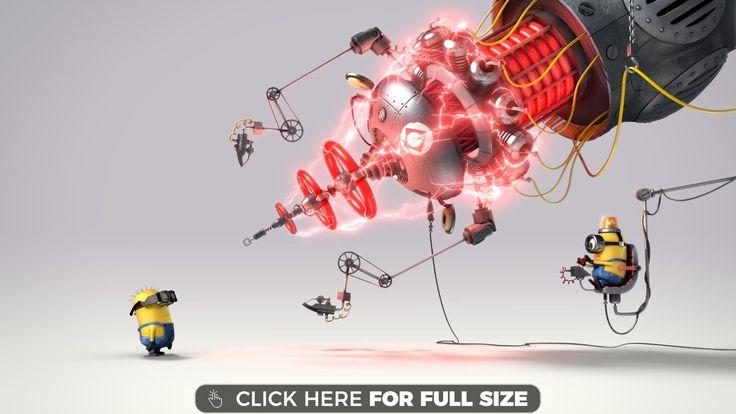 Minions Despicable Me 2 Laser wallpaper