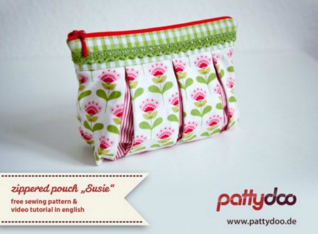 No matter how hard you try, you won't be able to convince us that we already have enough cosmetics bags. Not when you see how cute this one is! This is the Susie from Pattydoo patter…