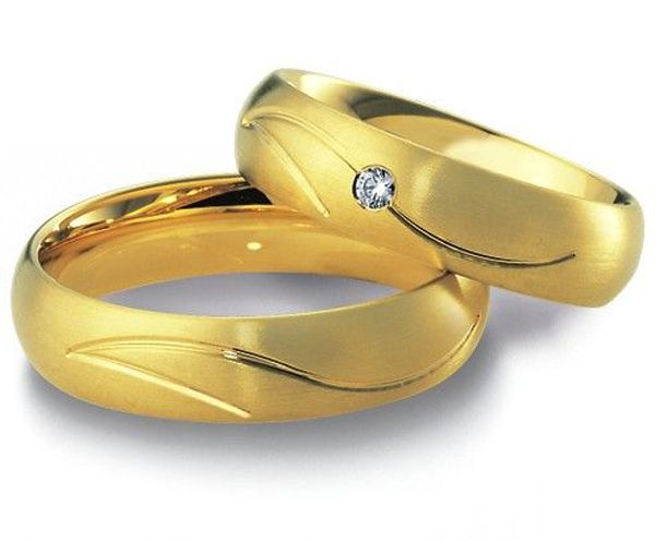 beautiful Jewelry  yellow Gold Plating stainless steel antique engagement promise rings sets  wedding bands his and her