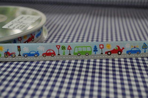 Webband - we ♥ TANTE EMA Webband 2 Meter Strasse Ampel Auto - ein Designerstück von LalaundFluse bei DaWanda