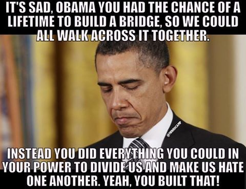 Yep. That's what terrorists do.... His job was to weaken our nation by dividing it.  He put THEIR people in key positions.... primed for a take over.