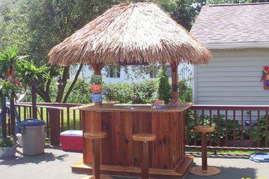 diy outdoor tiki bar - Google Search