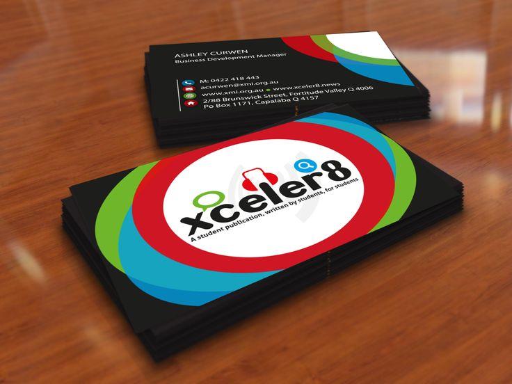 XCELER8 Business Card Design