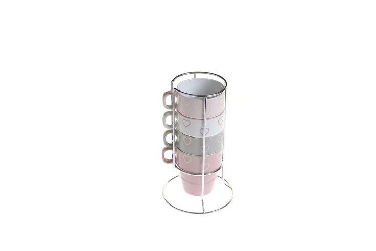 Aspen & Brown heart stacking mugs - £9.95