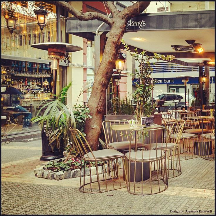 Exterior design // cafe bar exterior // king's design // exterior ideas // karavasilidesign