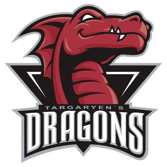 got dragons sports logo fantasy football logos