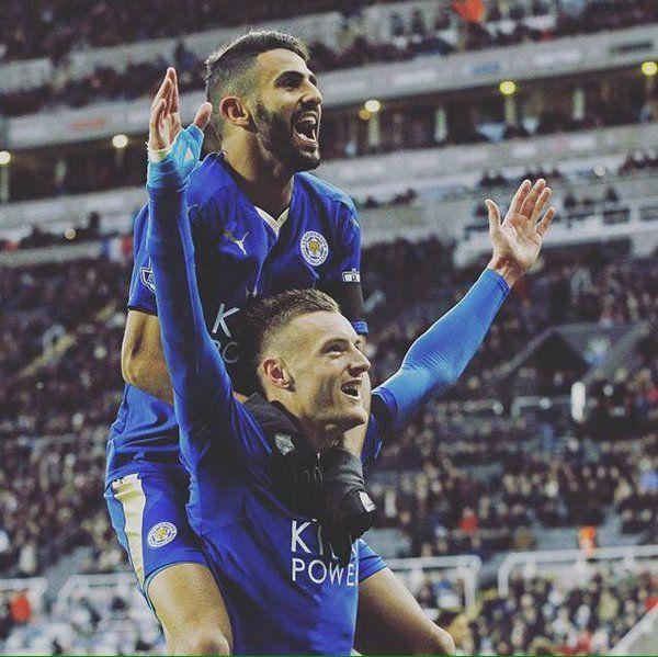 Jamie Vardy & Riyad Mahrez Leicester