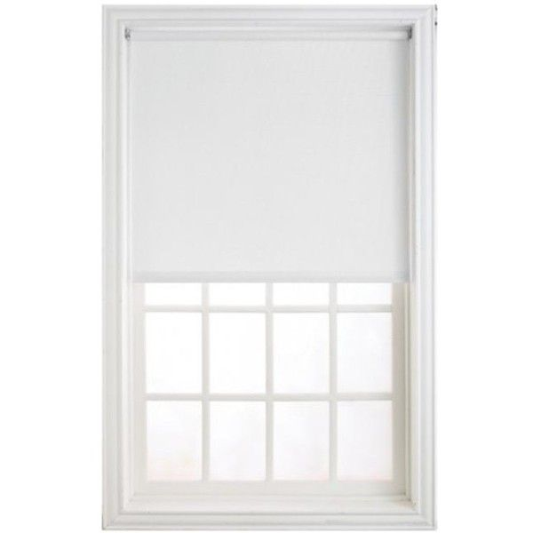 "Levolor-Kirsch Hrshwd4606601D Window Shade, White, 46""X66"" -... ❤ liked on Polyvore featuring home, home decor, window treatments, window blinds, transitional home decor, white roller shade, white window treatments and white shade"