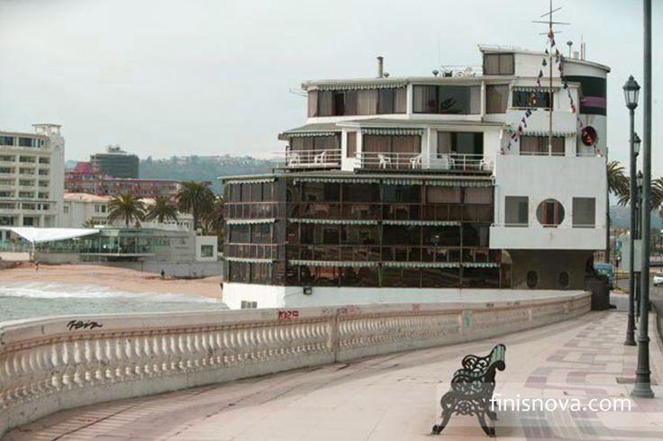 Famoso restaurant en Viña del Mar Cap Ducal que posee la linda arquitectura Art Deco. www.finisnova.com
