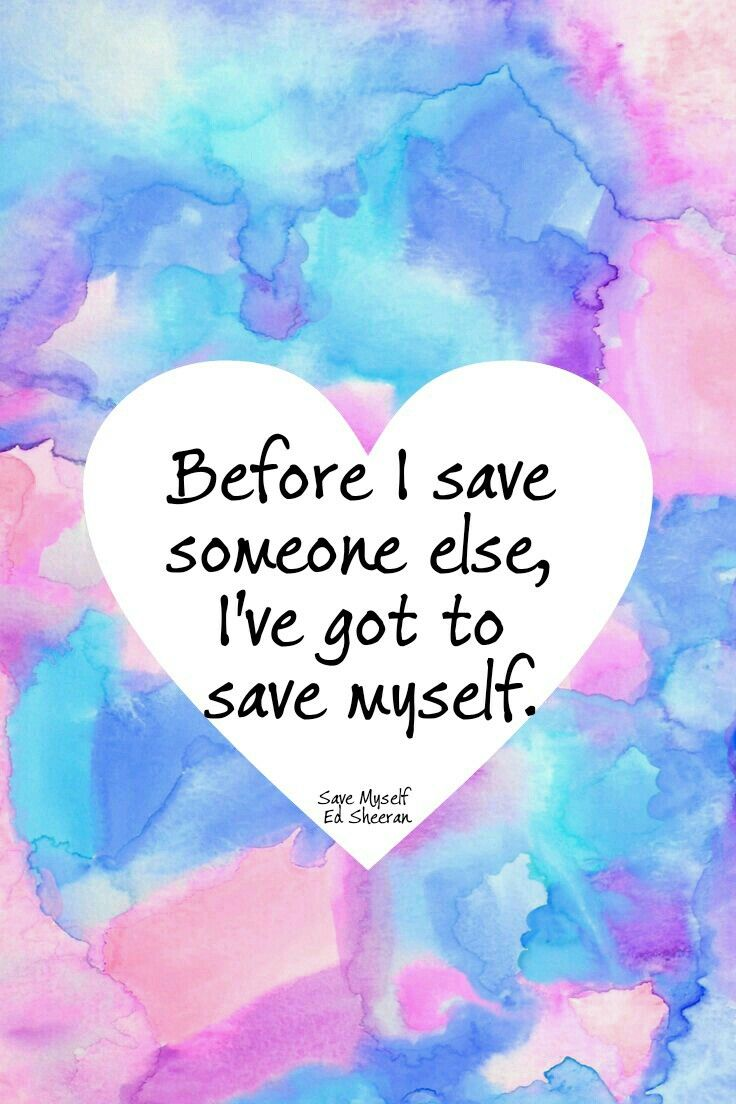 I have always given so much of myself. Sometimes to the point I neglected my own life and needs. It's time to live my life.