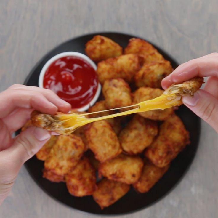 Chili Cheese-Stuffed Tots
