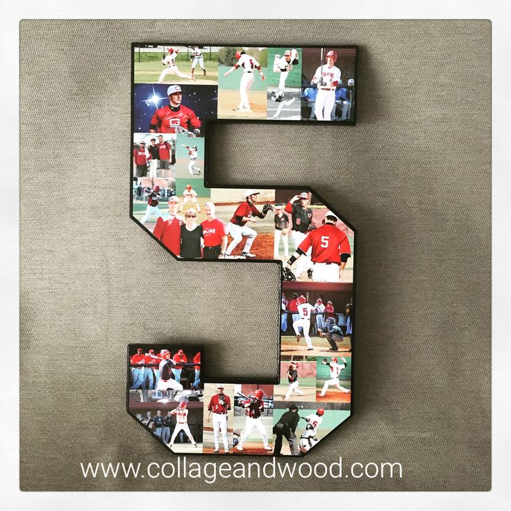 The most thoughtful gift for your boyfriend to celebrate his football/basketball/soccer/baseball career? Yes, we can make that! We hear you #beatgirlfriendever #baseball #seniornight www.collageandwood.com