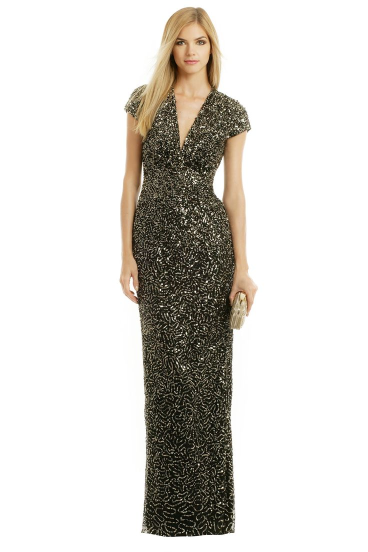midnight sequin stars gown by nicole miller for 90 rent the runway