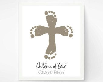 christian footprint crafts - Google Search