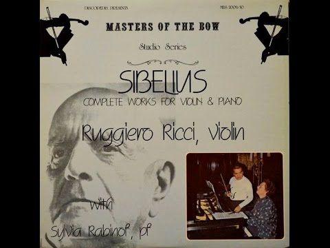 ▶ Ruggiero Ricci @ SIBELIUS 5 Pieces Op.81 - S.Rabinoff, 1979 - YouTube Jean SIBELIUS: Five Pieces, Op.81 (1915) 0:10 / I. Mazurka [2'21''] 2:30 / II. Rondino [1'54''] 4:24 / III. Valse [3'29''] 7:53 / IV. Aubade [3'18''] 11:11 / V. Menuetto [3'41''] Ruggiero Ricci, violin Sylvia Rabinoff, piano (LP release: (p) 1979 Discopaedia MBS 2009-10 /  CD reprint: (p) 1990 One-Eleven URS-90033)