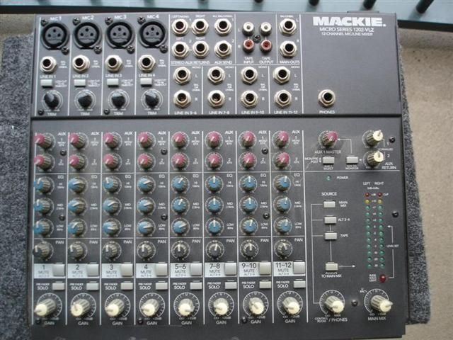my 12 channel Mackie mixer