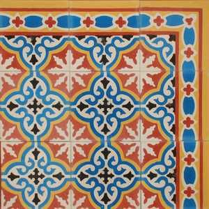 traditional morrocan tiles. a mish mash of these for kitchen and garden