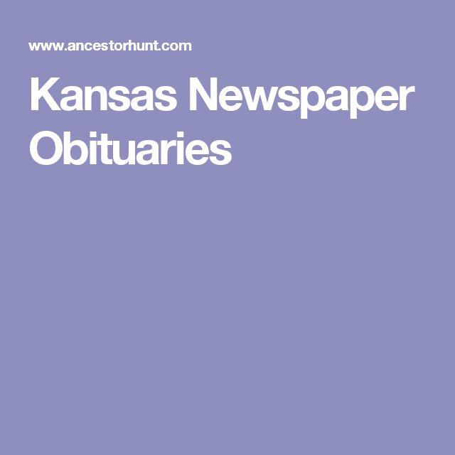 Kansas Newspaper Obituaries