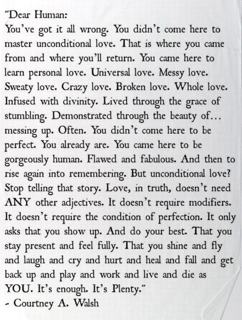 The most raw, real, and beautiful thing I have ever read.