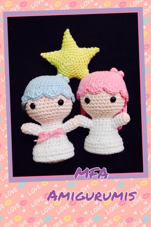 Kiki y Lala www.facebook.com/MFAAmigurumis