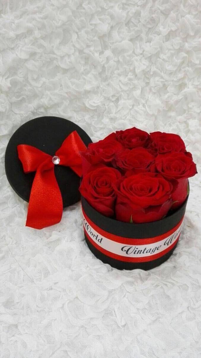 #vintageworld #red #rose #rosebox #flower